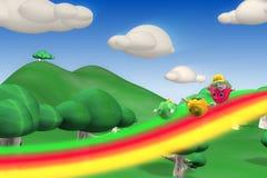 Caráteres f da morango, os alaranjados e os verdes da maçã Imagens de Stock Royalty Free