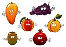 Caráteres isolados maduros do fruto dos desenhos animados Fotos de Stock Royalty Free