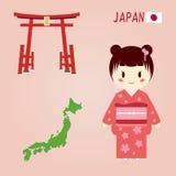 Caráteres japoneses Fotografia de Stock