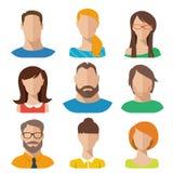 Caráteres lisos do vetor Imagens de Stock