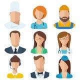 Caráteres lisos do vetor das profissões Imagens de Stock