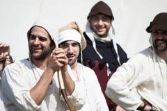 Caráteres medievais felizes Foto de Stock