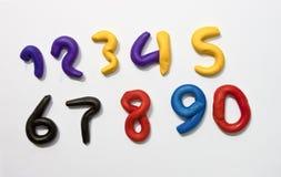 Caráteres numéricos da argila colorida. Imagem de Stock Royalty Free