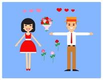 Caráteres para a animação amantes Vetor Foto de Stock Royalty Free