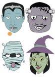 Caráteres para Halloween Imagem de Stock