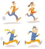Caráteres running diferentes Fotos de Stock