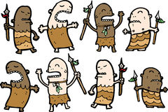 Caráteres tribais dos cavemen   Foto de Stock