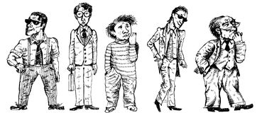 Caráteres (vetor) Fotografia de Stock
