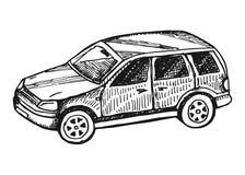 car Διανυσματικό εκλεκτής ποιότητας σκίτσο Στοκ φωτογραφία με δικαίωμα ελεύθερης χρήσης