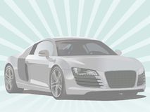 Car. Modern sports car. Vector Illustration Royalty Free Stock Image