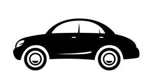 Car. Black sedan car for illustration Royalty Free Stock Image