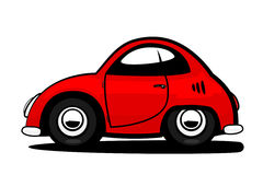 Car. Red old coupe car for illustration Royalty Free Stock Image
