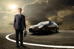 Car. Asian business man standing near to sport car Stock Photo