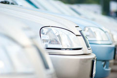 Car. A shiny row of cars Stock Photography