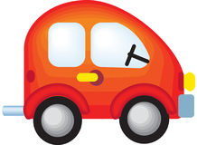 Car. A beautiful colorful vector illustrated toy car Royalty Free Stock Image