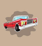 Car. Old American Car. Vector illustration Stock Images