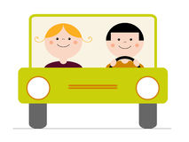 In the car Royalty Free Stock Photo