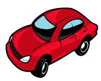 Car. Red car for clip art Stock Image