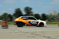 Car 12 (lada) on race Royalty Free Stock Photos