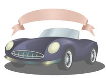 Car. The rare beautiful car with a pink tape Stock Image
