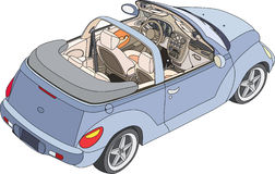 Car. Convertible car view from above. Vector illustration Royalty Free Stock Image