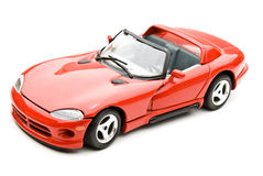 Car. Red sports car isolated in white background Royalty Free Stock Photos