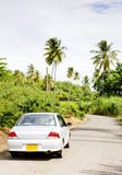 Car. On road in Grenada Royalty Free Stock Photography