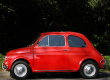 Car. One Side of Red Classic Car Stock Photo