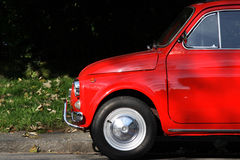Car. Side of Red Classic Car Royalty Free Stock Photos