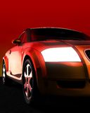 Car. A 3d rendered car - photo-realistic rendering Royalty Free Stock Photo