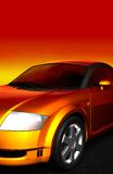 Car. A 3d rendered car - photo-realistic rendering Royalty Free Stock Images