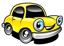 Car. The Cartoon car with smile Royalty Free Stock Photos