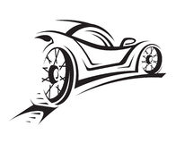 Car. Abstract monochrome illustration of a car Royalty Free Stock Photos