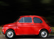 Car. Side of Red Classic Car Royalty Free Stock Photography