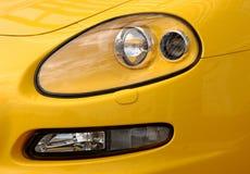 Car. Closeup of a yellow sports car Stock Images