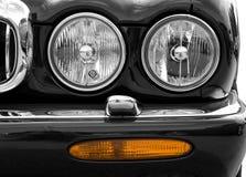 Car. Closeup of a black Jaguar Royalty Free Stock Photos