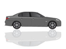 Car. On white background, vector illustration Royalty Free Stock Photos
