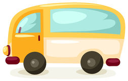 Car. Illustration of isolated cartoon car on white background Royalty Free Stock Photo