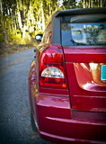 Car. Rear view of light and a red car body Royalty Free Stock Photography