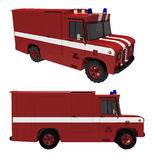 The car. Of technical support of fire-engines on a white background Royalty Free Stock Images