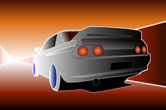 Car. A Japanese sports car illustration Royalty Free Stock Photos