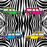 Car. A car with zebra skin  illustration Royalty Free Stock Photo