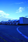 Car 30. Image of a lorrys parked outside a yard in Luton London stock photos