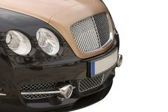 Car. Front view of a luxury car Stock Images