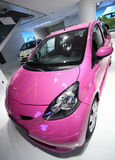 Car. French little pink car in exposition Stock Image
