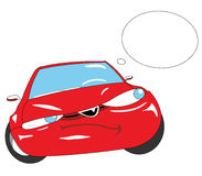 Car. Red car with circle for words Stock Photos