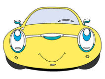 Car. The cartoon car with smile Stock Image