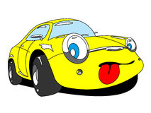 Car. The cartoon car with tongue Royalty Free Stock Photos