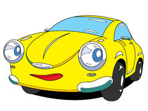 Car. The cartoon car with emotion Stock Photo