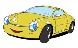 Car. The cartoon car with smile Stock Photo